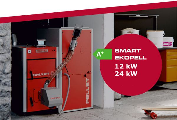 Defro Smart Ekopell Pelletkessel in Funktion